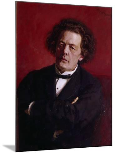 Portrait of Anton Grigoryevich Rubinstein, 1881-Ilya Efimovich Repin-Mounted Giclee Print