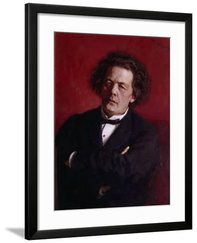Portrait of Anton Grigoryevich Rubinstein, 1881-Ilya Efimovich Repin-Framed Art Print