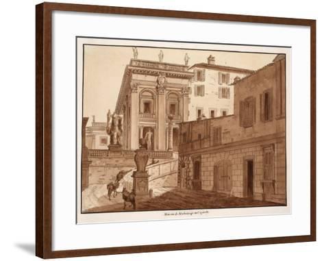 Michelangelo's House on the Capitoline Hill, 1833-Agostino Tofanelli-Framed Art Print
