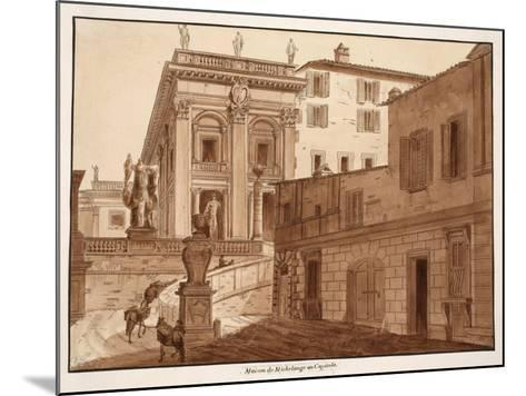 Michelangelo's House on the Capitoline Hill, 1833-Agostino Tofanelli-Mounted Giclee Print