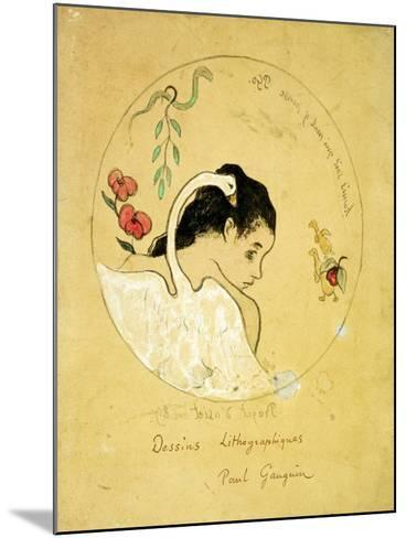 Design for a Plate - Leda and the Swan, 1889-Paul Gauguin-Mounted Giclee Print