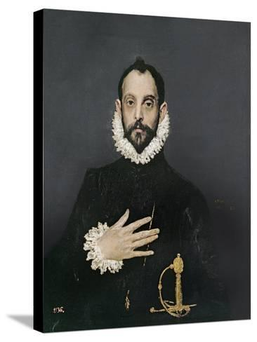 Gentleman with His Hand on His Chest, C.1580-El Greco-Stretched Canvas Print