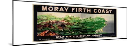 Moray Firth Coast, Poster Advertising the Gnsr-English School-Mounted Giclee Print