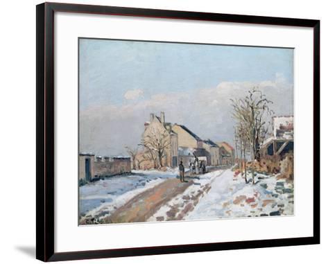 The Road from Gisors to Pontoise, Snow Effect, 1872-Camille Pissarro-Framed Art Print