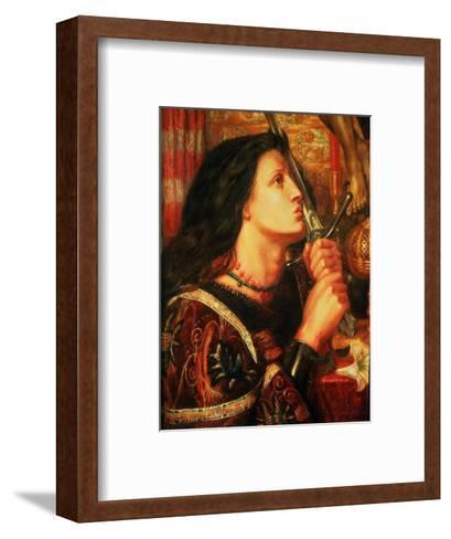 Joan of Arc Kissing the Sword of Deliverance, 1863-Dante Gabriel Rossetti-Framed Art Print