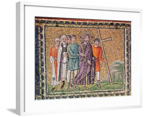 The Road to Calvary, Scenes from the Life of Christ-Byzantine School-Framed Art Print