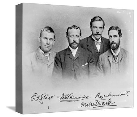 Roger Casement, Herbert Ward, E.J Glave and Friend-English Photographer-Stretched Canvas Print