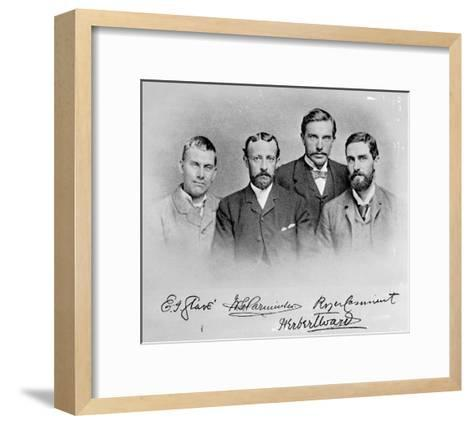 Roger Casement, Herbert Ward, E.J Glave and Friend-English Photographer-Framed Art Print