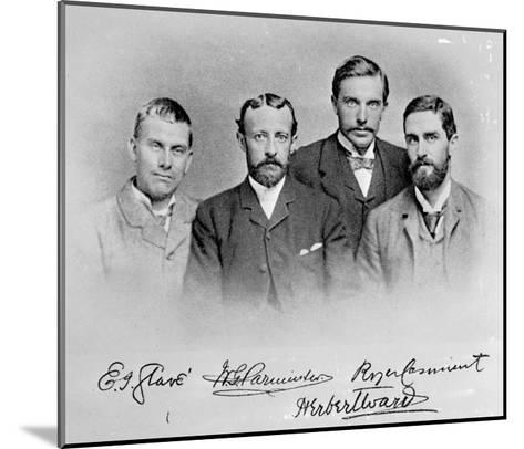 Roger Casement, Herbert Ward, E.J Glave and Friend-English Photographer-Mounted Giclee Print