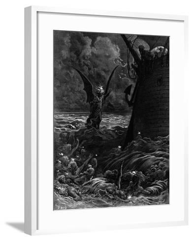 Death-Fires Dancing around the Becalmed Ship-Gustave Dor?-Framed Art Print