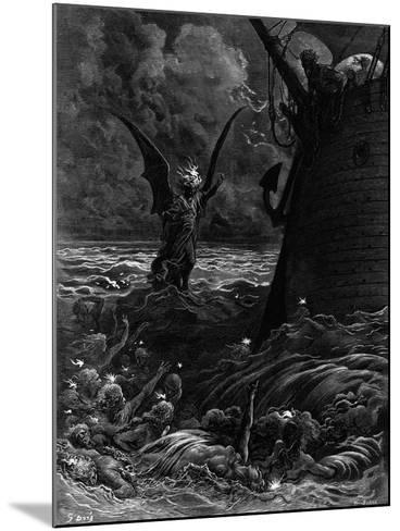 Death-Fires Dancing around the Becalmed Ship-Gustave Dor?-Mounted Giclee Print