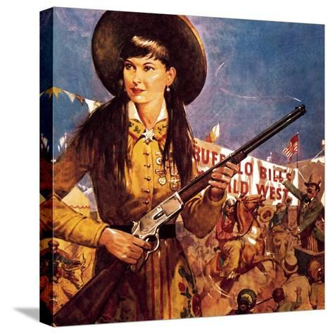 Sharpshooter Annie -- Annie Oakley and Her Gun-McConnell-Stretched Canvas Print