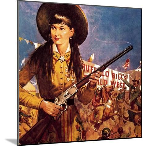 Sharpshooter Annie -- Annie Oakley and Her Gun-McConnell-Mounted Giclee Print