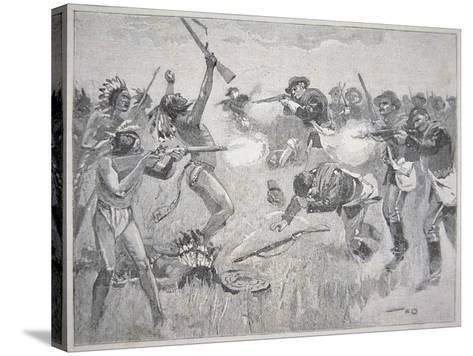 The Wounded Knee Massacre, 29th December 1890-American School-Stretched Canvas Print