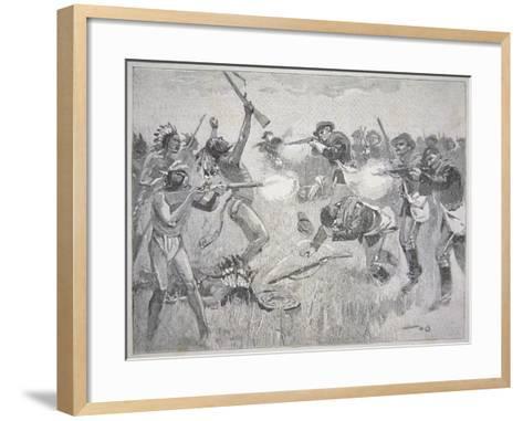 The Wounded Knee Massacre, 29th December 1890-American School-Framed Art Print