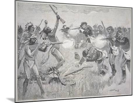 The Wounded Knee Massacre, 29th December 1890-American School-Mounted Giclee Print