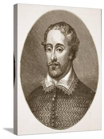 Edmund Spenser, from an Engraving by G. Vertue-English School-Stretched Canvas Print