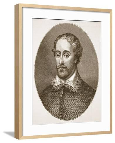 Edmund Spenser, from an Engraving by G. Vertue-English School-Framed Art Print