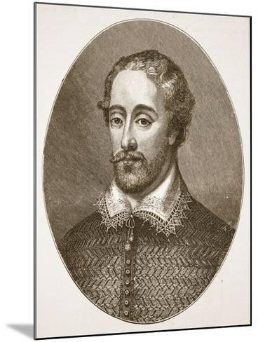 Edmund Spenser, from an Engraving by G. Vertue-English School-Mounted Giclee Print