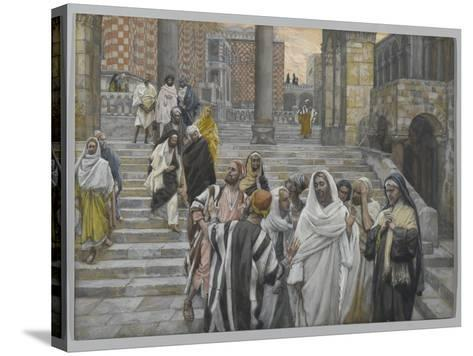 The Disciples Admire the Buildings of the Temple-James Tissot-Stretched Canvas Print