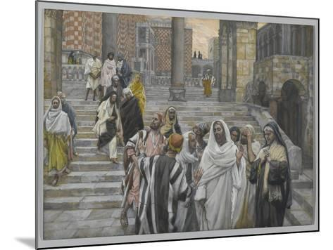 The Disciples Admire the Buildings of the Temple-James Tissot-Mounted Giclee Print