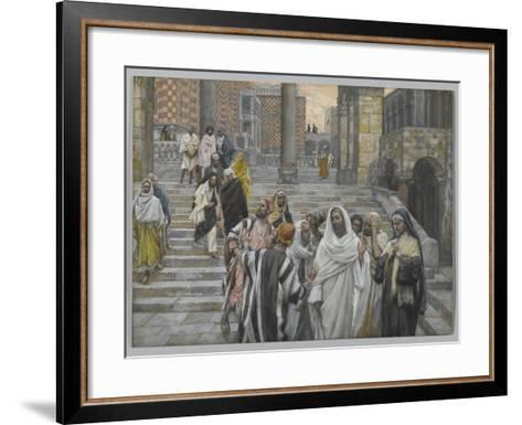 The Disciples Admire the Buildings of the Temple-James Tissot-Framed Art Print