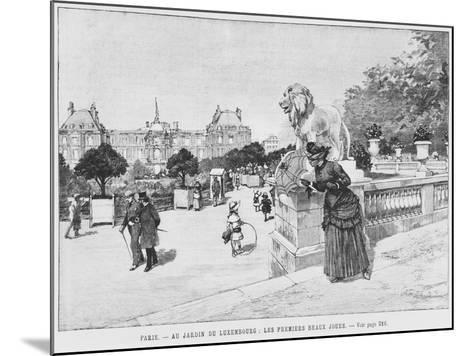 Jardin of Luxembourg, the First Fine Days, C.1870-80-French School-Mounted Giclee Print