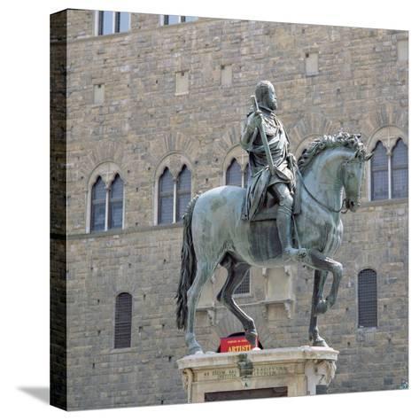 Equestrian Statue of Cosimo I, Grand Duke of Tuscany-Giambologna-Stretched Canvas Print