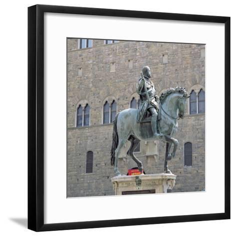 Equestrian Statue of Cosimo I, Grand Duke of Tuscany-Giambologna-Framed Art Print