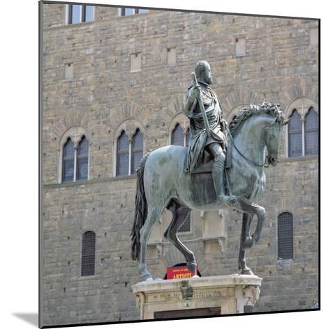 Equestrian Statue of Cosimo I, Grand Duke of Tuscany-Giambologna-Mounted Giclee Print