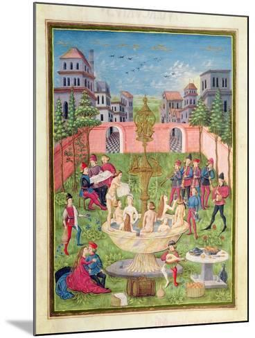 Ms. 'De Sphaera' Fol.11R the Fountain of Youth, 1470-Italian School-Mounted Giclee Print