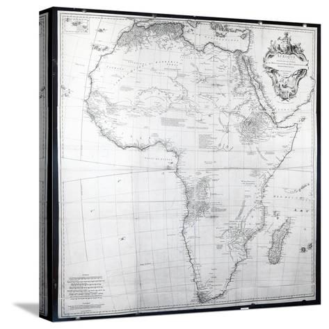 Map of Africa, Engraved by Guillaume Delahaye, 1749-French School-Stretched Canvas Print