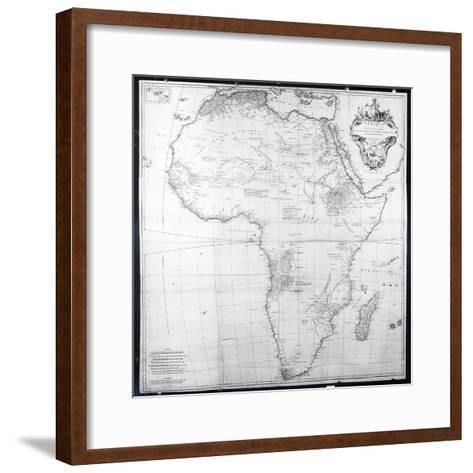 Map of Africa, Engraved by Guillaume Delahaye, 1749-French School-Framed Art Print