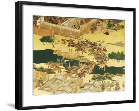 The Battle of Hogen from a Screen, Momayama Period-Japanese School-Framed Art Print