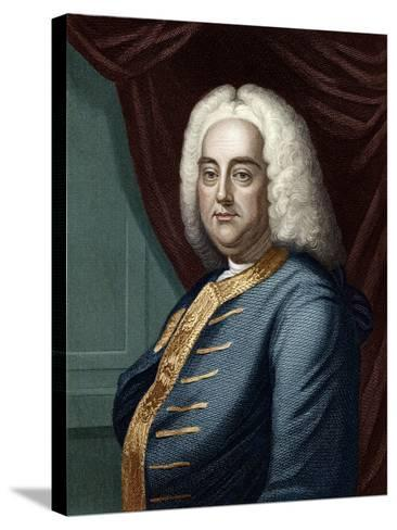 George Frederic Handel, Engraved by Thomson-English School-Stretched Canvas Print