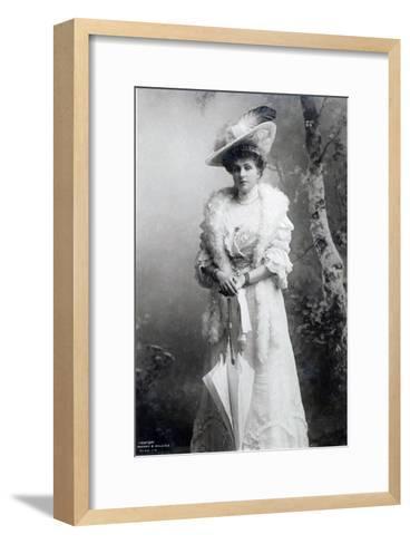 Queen of Spain, Ena of Battenberg, C.1910--Framed Art Print