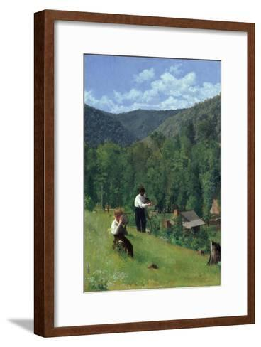 The Farmer and His Son at Harvesting, 1879-Thomas Pollock Anshutz-Framed Art Print