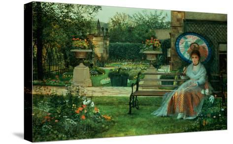 In the Plesaunce, Knostrop Hall, Leeds, 1875-Grimshaw-Stretched Canvas Print