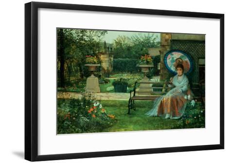 In the Plesaunce, Knostrop Hall, Leeds, 1875-Grimshaw-Framed Art Print
