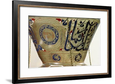 Lamp, from the Mosque of Sultan Hasan, Cairo-Islamic School-Framed Art Print