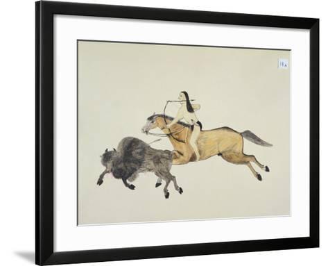 Plains Indian Equipment for the Buffalo Hunt-Kills Two-Framed Art Print