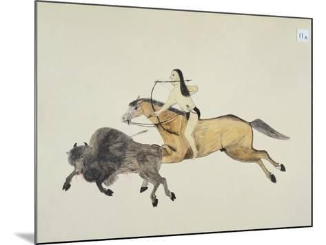 Plains Indian Equipment for the Buffalo Hunt-Kills Two-Mounted Giclee Print