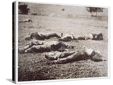 Dead on the Field of Gettysburg, July 1863-American Photographer-Stretched Canvas Print