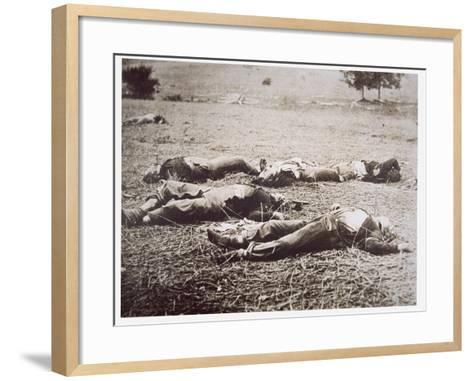 Dead on the Field of Gettysburg, July 1863-American Photographer-Framed Art Print