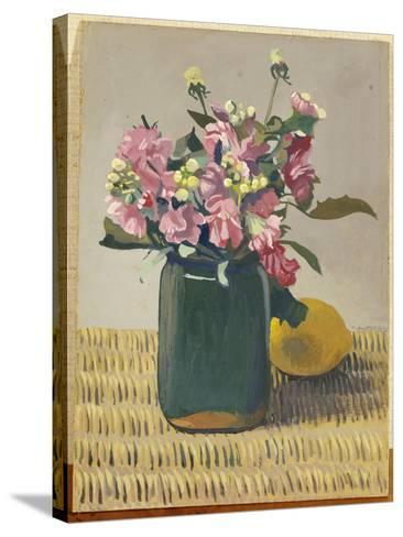A Bouquet of Flowers and a Lemon, 1924-F?lix Vallotton-Stretched Canvas Print