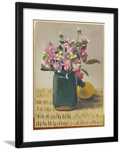 A Bouquet of Flowers and a Lemon, 1924-F?lix Vallotton-Framed Art Print