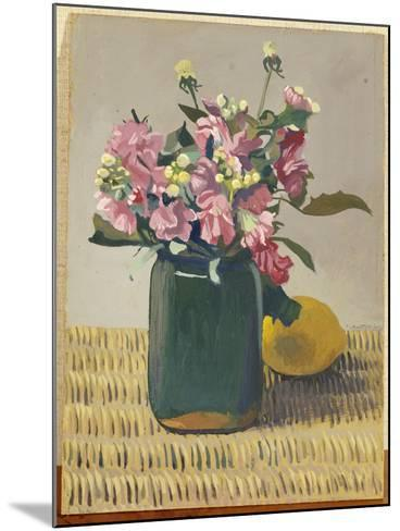 A Bouquet of Flowers and a Lemon, 1924-F?lix Vallotton-Mounted Giclee Print