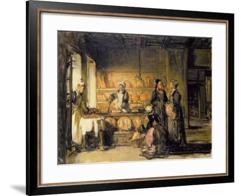 Interior of a Breton Boulangerie, C.1906-Joseph Bail-Framed Art Print