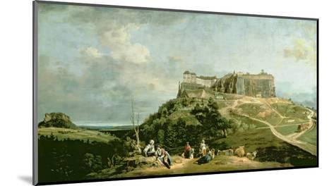 The Fortress of Konigstein, 18th Century-Bernardo Bellotto-Mounted Giclee Print
