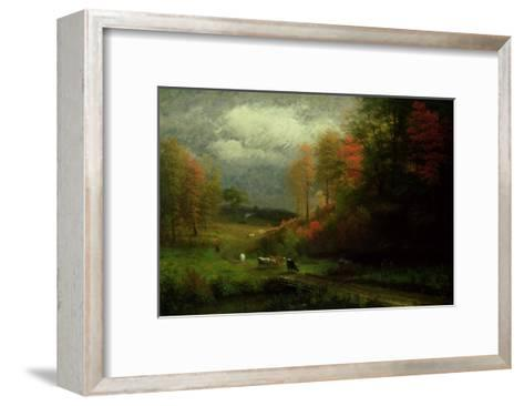 Rainy Day in Autumn, Massachusetts, 1857-Albert Bierstadt-Framed Art Print